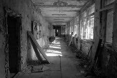 Radioactive School, Pripyat Ukraine (Harald Philipp) Tags: chernobyl ukraine pripyat radioactive sony school abandoned ghosttown ussr monochrome bw blackwhitephotos