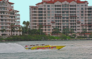 The Speed Boat THRILLER, Heading for the Port of Tampa (1 of 2)