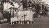 Page 89, no. 1: PEO on lawn at Balboa (InstaDerek) Tags: 1920s monochrome women abbott richardson balboaisland newportbeach orangecounty california socialclub ladies lawn grass palmtree peo