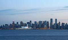 when the evening falls.. (leuntje) Tags: vancouver britishcolumbia canada skyline downtown burrardinlet northshore northvan