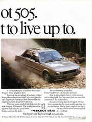 1982 Peugeot 505 Sedan Page 2 Aussie Original Magazine Advertisment (Aussie Car Adverts) Tags: 1 9 8 2 5 peugeot 505 french e f europe european automobile c a v car vehicle collectors collectible 80s