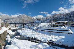 立谷川沿いの雪景色 (あつすけ) Tags: 山寺 xf1855mm fujifilmxt2