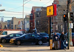 Getting carryout at La Condesa - Chicago (Cragin Spring) Tags: lacondesa people car sign mexican mexicanfood noblesquare city chicago chicagoillinois chicagoil illinois il building restaurant corner urban unitedstates usa unitedstatesofamerica