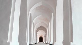 Dans une mosquée de Khiva