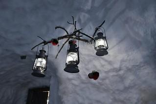 Lampadari negli hotel di ghiaccio