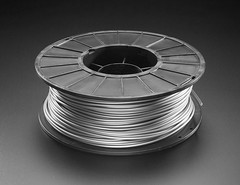 PLA Filament for 3D Printers - 2.85mm Diameter - Silver - 1 Kg - MeltInk (adafruit) Tags: 3731 3dprinting filament 3dfilament meltink 285mm