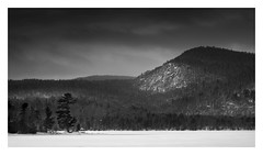 Higgins Bay (bprice0715) Tags: canon canoneos5dmarkiii canon5dmarkiii landscape landscapephotography nature naturephotography beautiful beauty beautyinnature snow snowylandscape contrast highcontrast darksky mountain lake pisecolake higginsbay winter fineart adirondacks adirondackmountains adirondackpark blackandwhite bw blackwhite monochrome mono