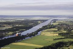 Kiel Canal / Nord-Ostsee-Kanal / Eider River, Germany (peterkaroblis) Tags: kielcanal nordostseekanal canal schleswigholstein ballonfahrt balloonride geometrie geometry
