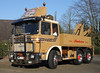 Old MAN truck (Schwanzus_Longus) Tags: delmenhorst german germany old classic vintage truck lorry platform flatbed crane coe cab over engine man 26320