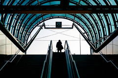 fassinger_assignment2_1.jpg (AAU_PhotoJ) Tags: czech hradcanska blue cane czechrepublic escalator jamesfassinger metro pedestrian prague publictransport silhouette stairs streetlife streetscenes subway