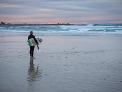 Surf Break (Tim Gupta) Tags: surfing surfer sunset monterey california pacificgrove asilomar