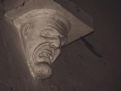 The Face I (dusk_rider) Tags: great wymondley village church norman 15th century medieval england english statue face gargoyle interior nikon d7200 february dusk rider st saint mary virgin hertfordshire stone grizzly scary