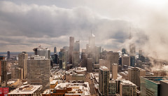 Big Smoke (Jack Landau) Tags: toronto skyline downtown financial district buildings city urban metro metropolis skyscrapers gta ontario canada skyscraper tower street grid canon 5d mkii jack landau