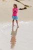 Reflections in Receding Waters (Kevin MG) Tags: huntingtonbeach beach people girls young youth cute pretty little pink reflection sand water ocean