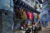 Sari 2 Go (www.davidbaxendale.com) Tags: jodhpur rajasthan india travel photography sari blue city backstreets