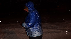 walk in the park during snowfall in winter suit and wellies (Axelweb) Tags: chubby bbw girl lady female rainwear raincoat pvc shiny wellies rubber boots plastenky holinky rainsuit rain suit plastic wellington gumboots galoshes gummi winter snow fall