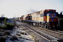 3186 N1872 N1877 empty bauxite Mundijong 13 July 1982 (RailWA) Tags: railwa philmelling westrail 1982 n1872 n1877 empty bauxite mundijong