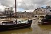 Paris /  Flood of the Seine / 4 (Pantchoa) Tags: paris france seine crue inondation bateau péniches eau iledelacité mat nuages henriiv statue pontneuf quaideconti arbres mariejeanne
