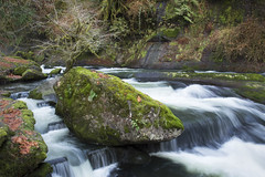 Lake Creek Falls slide rocks, Oregon (icetsarina) Tags: slow capture oregon winter slide rocks lakecreek moss