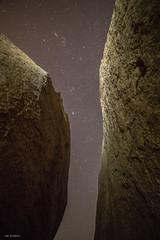 between two worlds (sami kuosmanen) Tags: india intia asia hampi karnataka luonto light landscape boulder kivi rock nature night yö long exposure expression star sky taivas tähti big