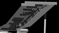 Tail mechanism (JSDBanner) Tags: strategic lego aircraft wip il76 transport airlifter white background city