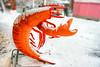 Fischmarkt (epemsl) Tags: münchen figur krebs orange