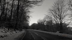 Scotland in winter 2 (picsbyCaroline) Tags: scotland winter car drive cold unitedkingdom blackandwhite road weather landscape