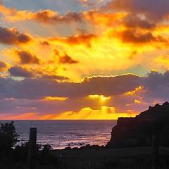 Summer sunset (shonainnewzealand) Tags: ohawe beach taranaki newzealand sunset