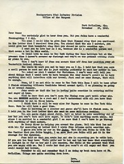 Raymond Whittaker Papers - Letter from Raymond to his Mother (Nashville Public Library) Tags: letters correspondence raymond whittaker jane dean nashville world war ii alabama arizona 92nd infantry division thanksgiving