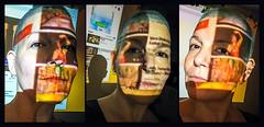 SSA (Melissa Maples) Tags: istanbul turkey türkiye asia 土耳其 apple iphone iphone6 cameraphone kadıköy caferağa moda autumn msomoda multipanel triptych projector me melissa maples selfportrait woman brunette bald bluehair shorthair light projections youtube shadow