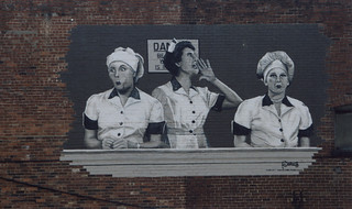 Jamestown New York - Lucille Ball–Desi Arnaz Center Museum - Mural on Building - I love Lucy  TV Series