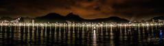 Guanabara Bay - Copacabana Beach (Enio Godoy - www.picturecumlux.com.br) Tags: riodejaneiro longexposure beach nikon niksoftware nikond300s brazil newyear night copacabanabeach panoramic viveza21324165897193243 guanabarabay sea