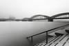Hochwasser und Nebel (Jörgenshaus) Tags: deutschland nrw rheinland köln rhein rheinboulevard hochwasser nebel lzb hohenzollernbrücke