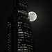 Supermoon over the city of London