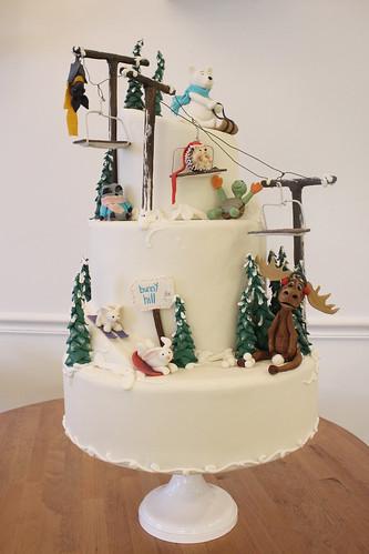 Ski Slope Creature Cake