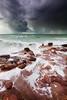 Ferocious seas (Louise Denton) Tags: east point darwin wet season waves water ocean sea tropical nt australia northern territory beach rocks storm cloud weather movement