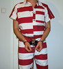 maximum security (rainerzufall1234) Tags: handcuffs bellychain legcuffs legirons prisoner inmate uniform jumpsuit bluebox