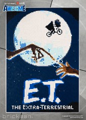 LEGO® brick E.T. movie poster (TheBrickMan) Tags: legomosaic lego movie poster et brickman awesome lights