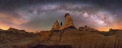 The Wizard of Bisti (Wayne Pinkston) Tags: wizard druid hoodoo badlands desert wilderness night sky nightsky nightlandscape nightphotography nightscape waynepinkston waynepinkstonphotocom lightcrafter lightcraftercom stars star starrynight milkyway galaxy cosmos theheavensstrophotography landscapeastrophotography fantasy widefieldastrophotography nikon