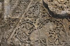 Facade of Qasr Mshatta, Umayyad, 8th cent.; Pergamon Museum, Berlin (1) (Prof. Mortel) Tags: germany berlin pergamonmuseum islamic umayyad mshatta