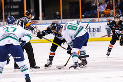 """Kansas City Mavericks vs. Florida Everblades, February 18, 2018, Silverstein Eye Centers Arena, Independence, Missouri.  Photo: © John Howe / Howe Creative Photography, all rights reserved 2018 • <a style=""""font-size:0.8em;"""" href=""""http://www.flickr.com/photos/134016632@N02/25515792047/"""" target=""""_blank"""">View on Flickr</a>"""