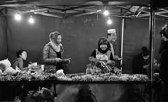Happy Halal of Lhasa (Harald Philipp) Tags: tibet halal moslem islamic lhasa shashlik bbq tent street happy nikon d810 nikkor meat people cooking