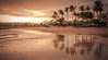 "Costa Teguise (Ian Emerson ""I'm Back"") Tags: holiday lanzarote spain europe january winter sunshine break beach sea sunset sand volcano palm trees reflection water outdoor evening canon"
