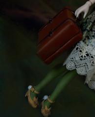 Forest chic (The Migratory Dreamery) Tags: pullip custompullip poisongirlsdolls dark mori cute latelierduchapelier kikichrysanthemum qmagicdoll leekeworld azone romantic story adventure sister green mohairwig obitsu obitsuedpullip forest littlegirl
