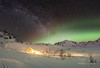 Warm and cozy (Traylor Photography) Tags: arch goldcordroad historic palmer auroraborealis stars mountains milkyway norhternlights hatcherspass lightsource fishhookwillowroad independencemine alaska unitedstates us