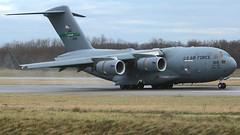 02-1109 (Breitling Jet Team) Tags: 021109 usaf united states air force boeing c17a globemaster iii euroairport bsl mlh basel flughafen lfsb