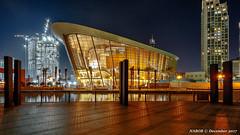 Dubai, United Arab Emirates: Dubai Opera House (nabobswims) Tags: ae burjkhalifa dubai hdr highdynamicrange ilce6000 lightroom nabobswims night nightfoto photomatix sonya6000 uae nabob sel18105g operahouse unitedarabemirates