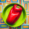 red bell pepper (auntneecey) Tags: red pepper colorful redbellpepper 365the2018edition 3652018 day43365 12feb18 odc