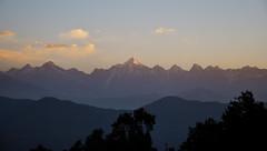 Tranquil morning over Panchachuli. (draskd) Tags: panchachuli rajrambha sunrise morning chaukori uttarakhand draskd sawtoothrange