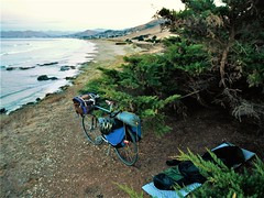 Campsite at Cayucos (guidedbybicycle) Tags: bicycle touring tour california death valley national park nature desert mountains sierra nevada southern natural carrizo trees camping